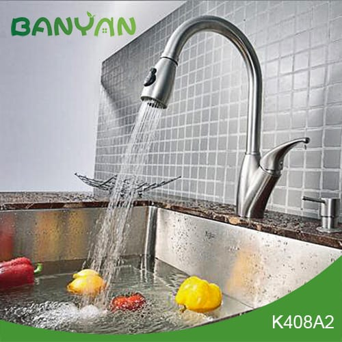 Stainless Steel Kitchen Faucet With Pull Down Spray