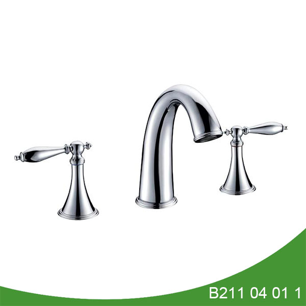 8 inch spread 3 hole bathroom faucet