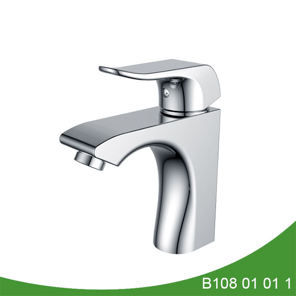 Single handle brass basin faucet B108 01 01 1