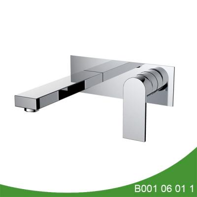 Wall mount bathroom sink faucet