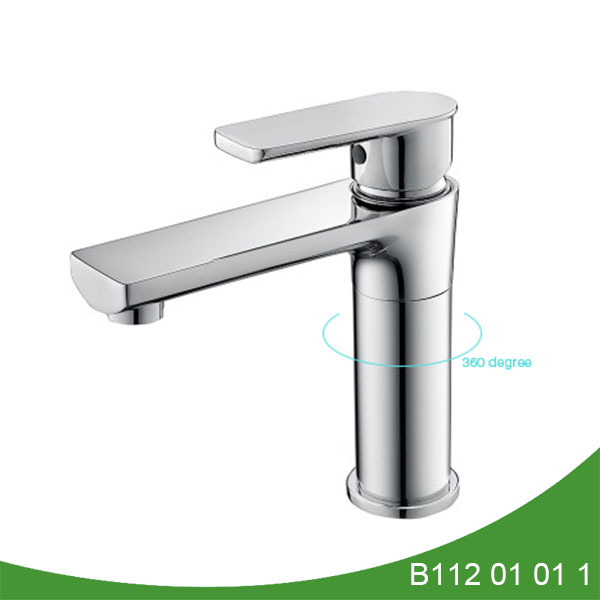 Single handle brass basin faucet B112 01 01 1
