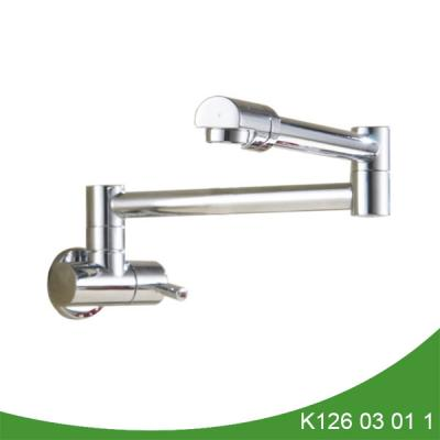 Brass pot filler faucet