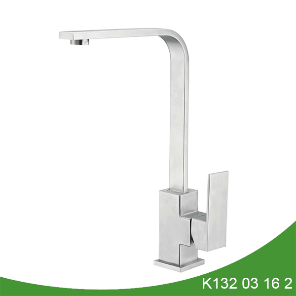 Square kitchen faucet stainless steel K132 03 16 2