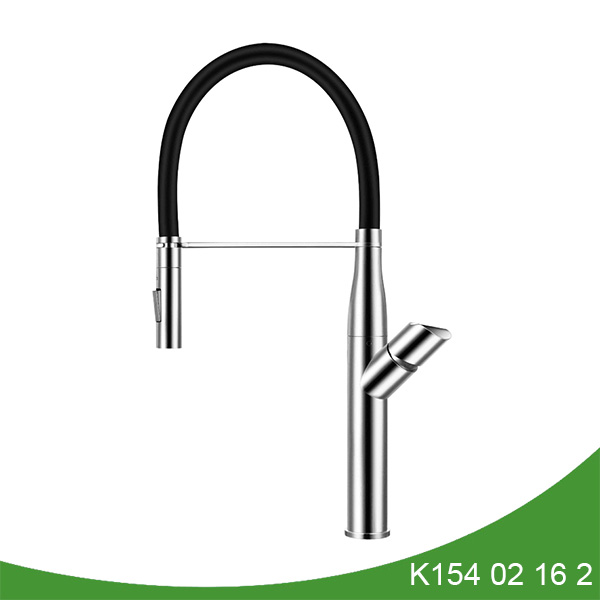 Pull down spout stainless steel kitchen faucet K154 02 16 2