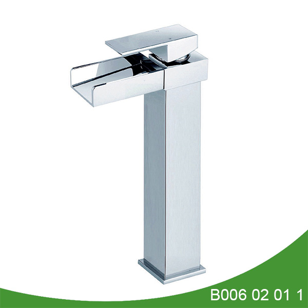 Single handle tall waterfall basin faucet B006 02 01 1