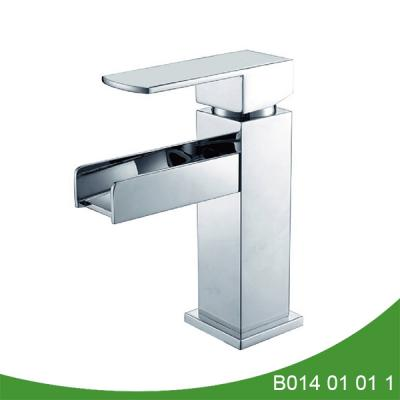 Single handle waterfall basin faucet B014 01 01 1