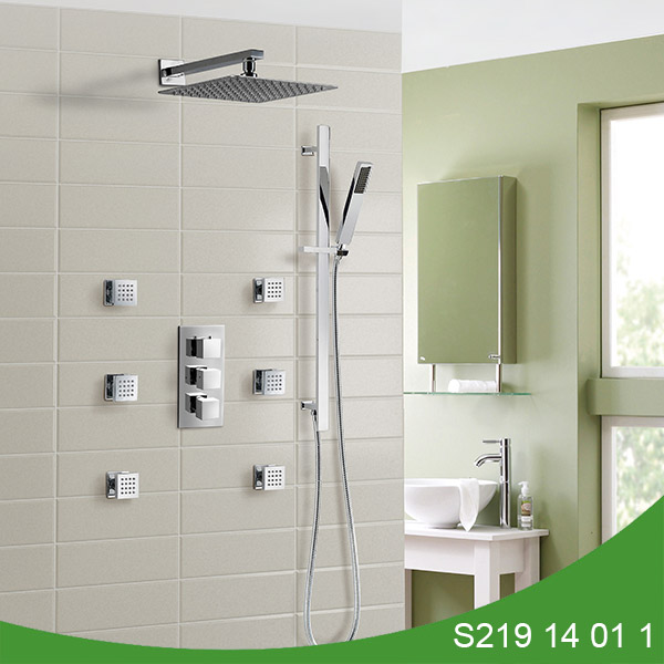 Thermostatic spa concealed shower set S219 14 01 1
