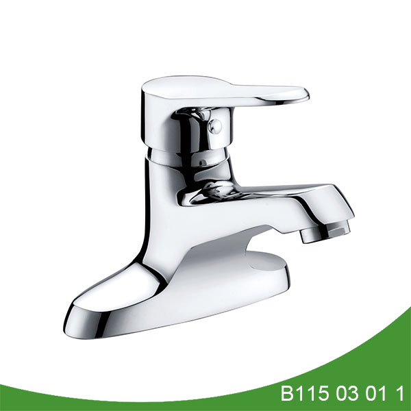 single handle basin faucet with base B115 03 01 1