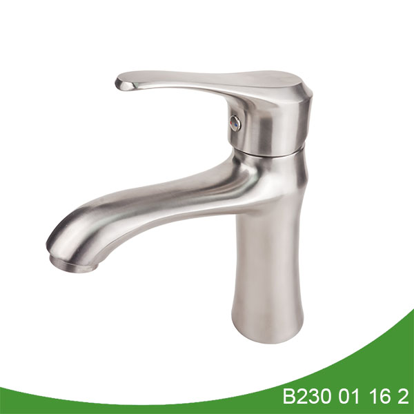 Single handle stainless steel basin faucet B230 01 16 2
