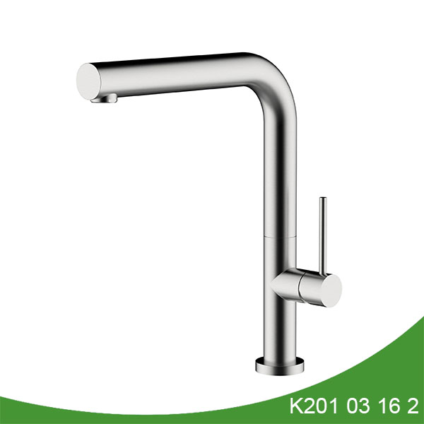 Stainless steel brushed nickel finished kitchen tap