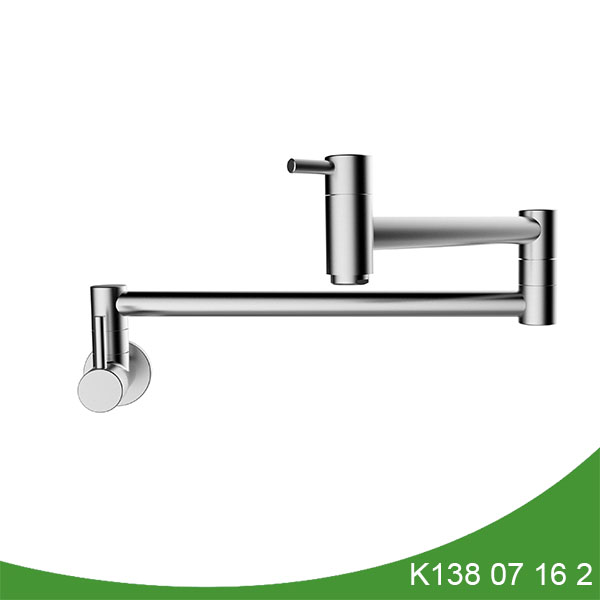 stainless steel single cold pot filler