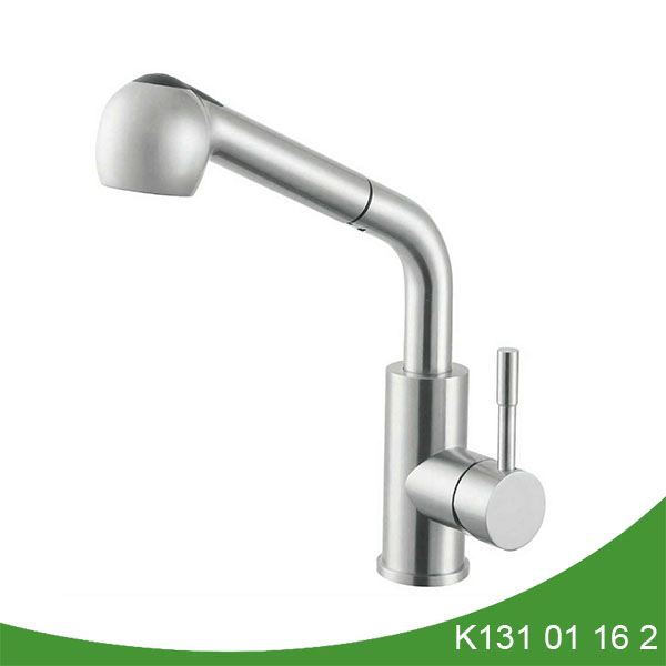 Stainless steel pull out kitchen faucet - K131 01 16 2