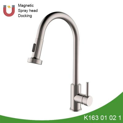 Gooseneck pull out sink faucet