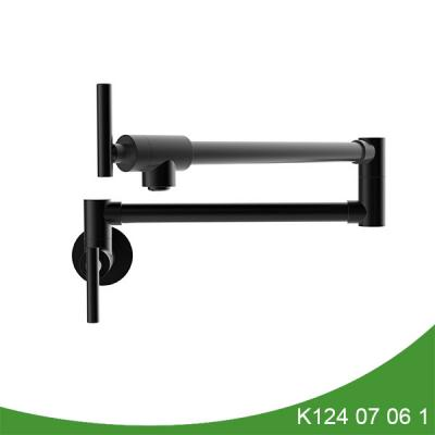 Black pot filler faucet