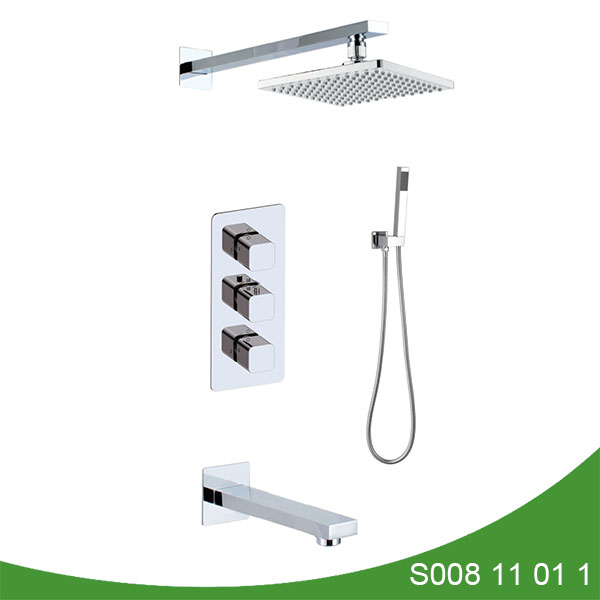 Concealed thermostatic shower set s008 11 01 1