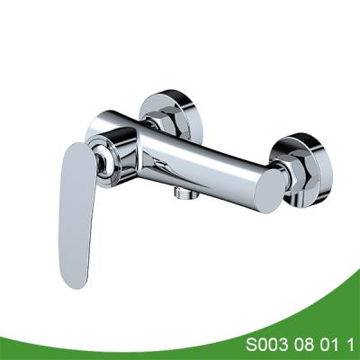 Wall mounted bath and shower mixer tap