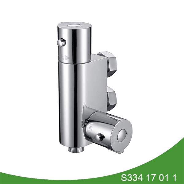 Vertical thermostatic shower mixer s334 17 01 1