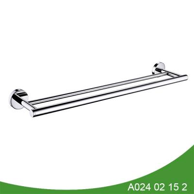 Polished stainless steel long towel bar