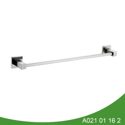 Single hanging stainless steel towel bar