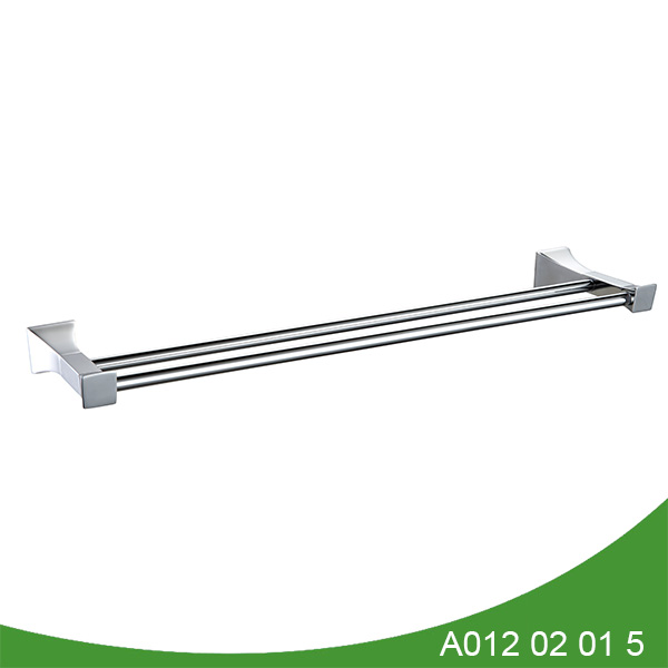 stainless steel and zinc alloy double towel bar A012 02 01 5