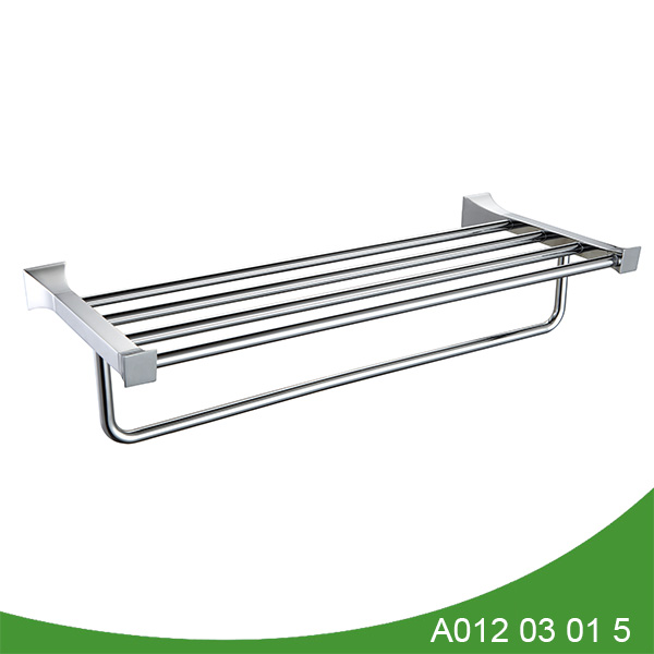 stainless steel and zinc alloy towel shelf A012 03 01 5