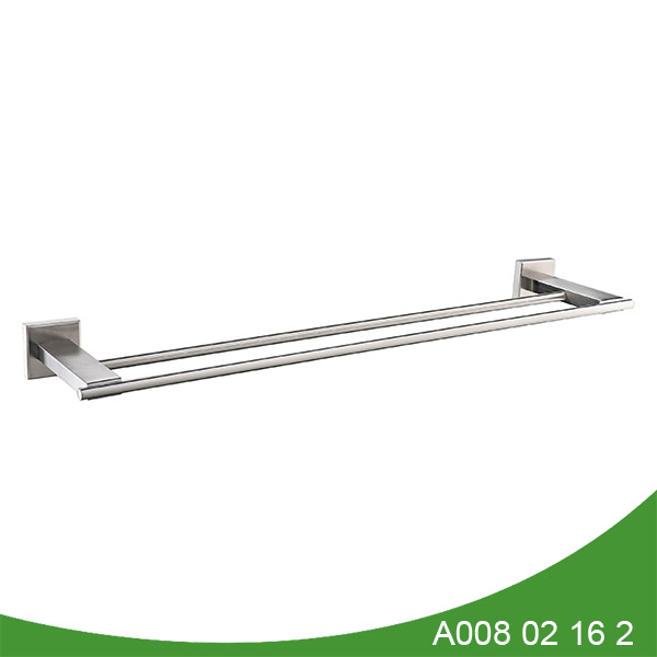stainless steel double towel bar A008 02 16 2