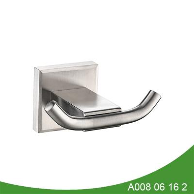 stainless steel double robe hook A008 06 16 2
