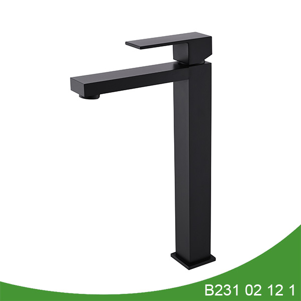 Matt black tall basin faucet B231 02 12 1