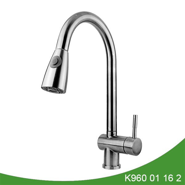 Stainless steel pull out kitchen faucet - K960 01 16 2