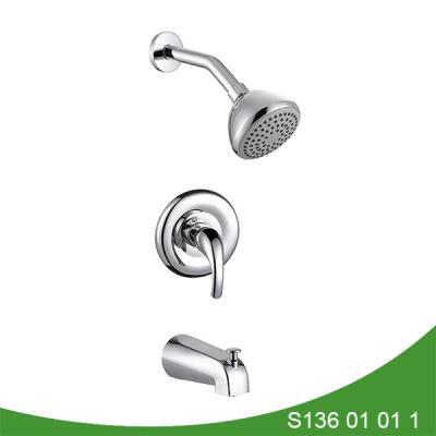 Pressure balance valve shower set with spout