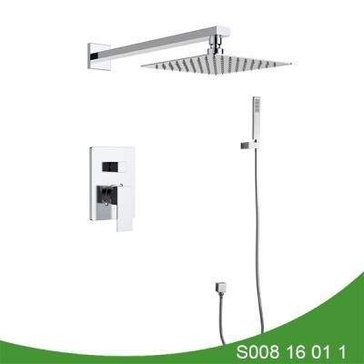 Concealed shower faucet with hand shower