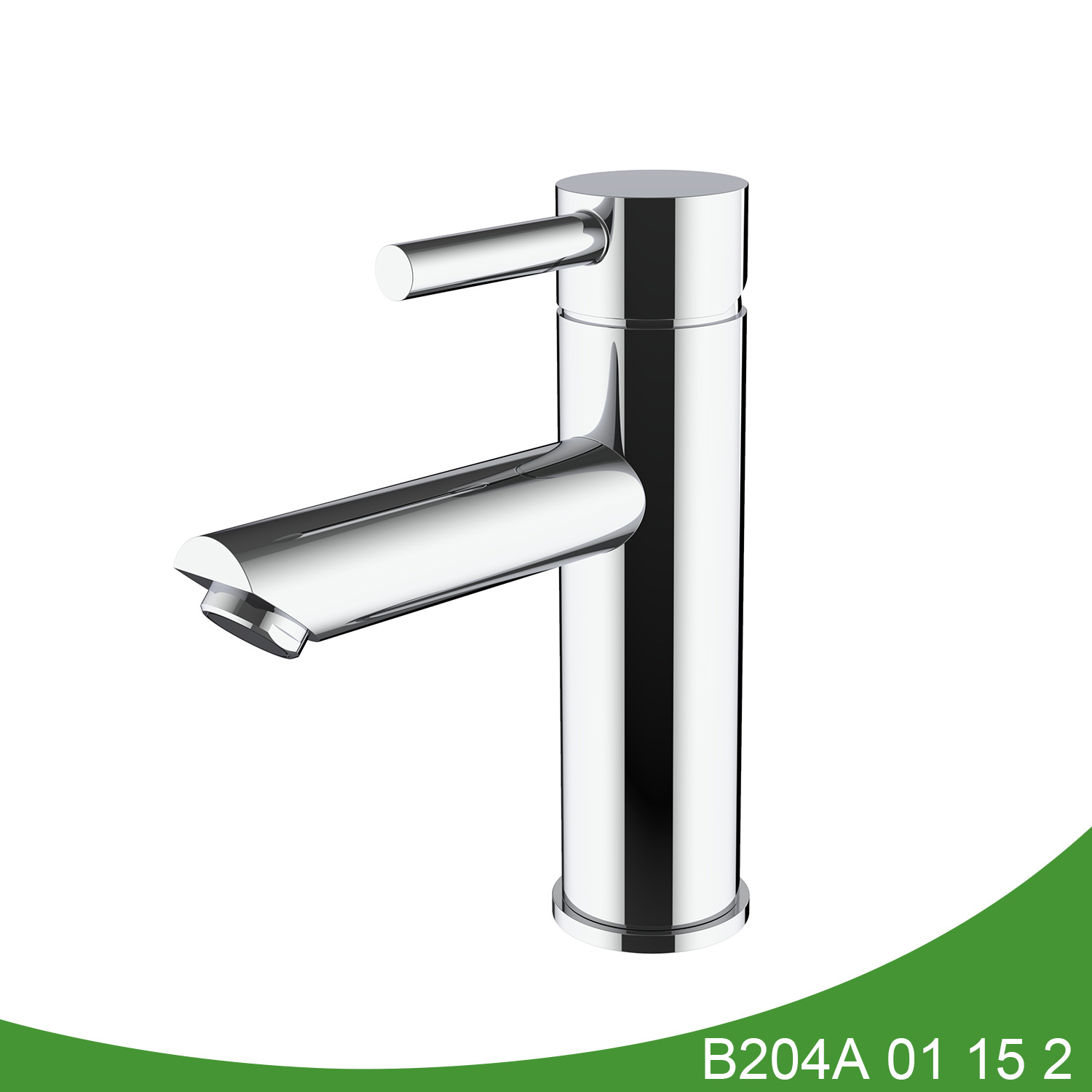 Polish stainless steel basin tap B204A 01 15 2