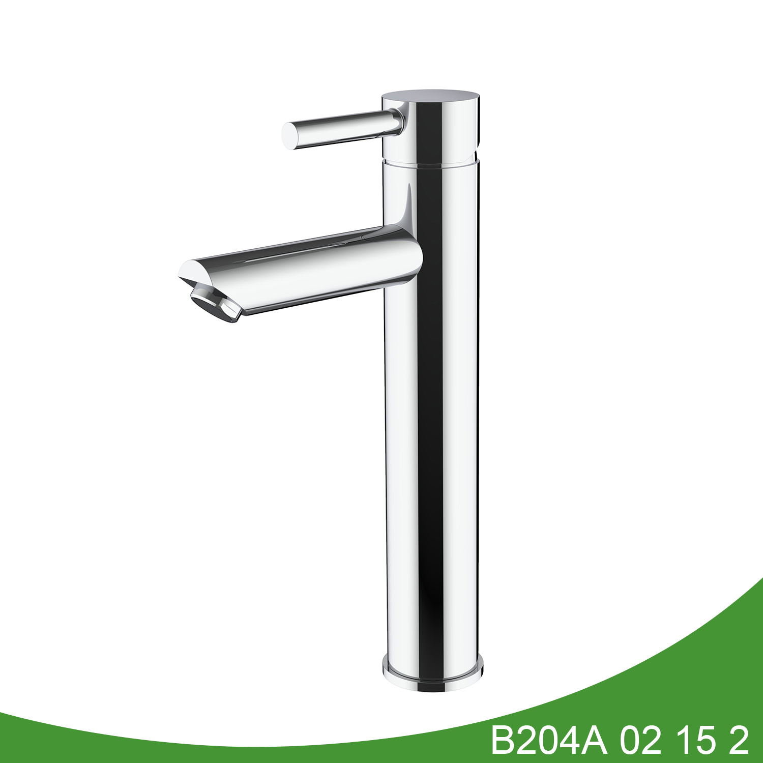 Polish stainless steel vessel tap B204A 02 15 2