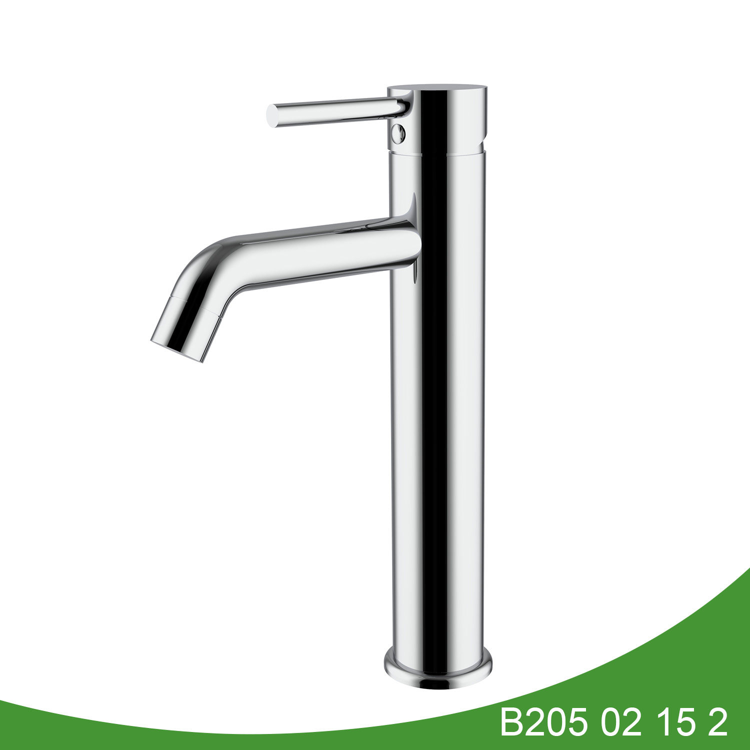 Single handle stainless steel tall basin faucet B205 02 16 2