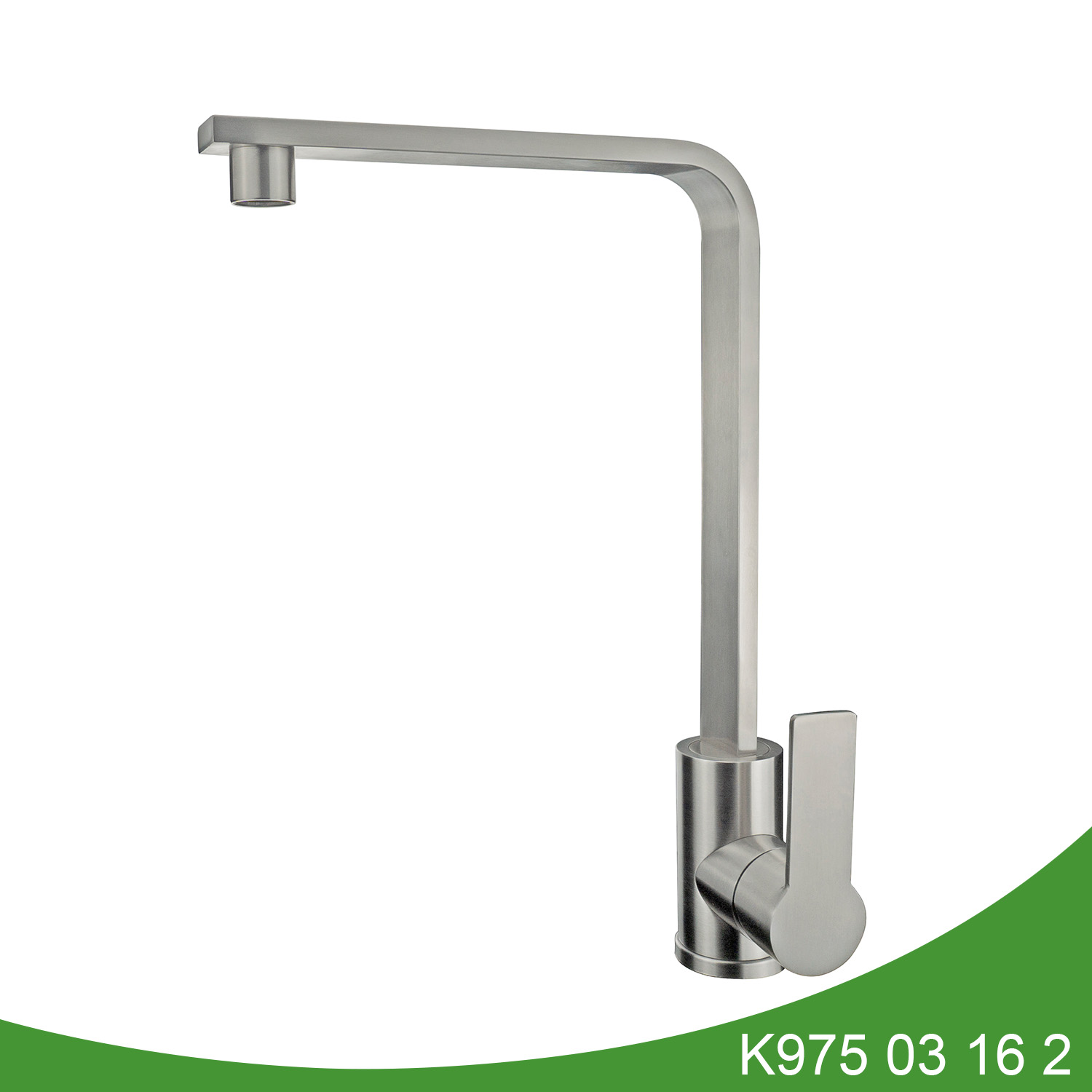 Stainless steel single handle kitchen tap K975 03 16 2