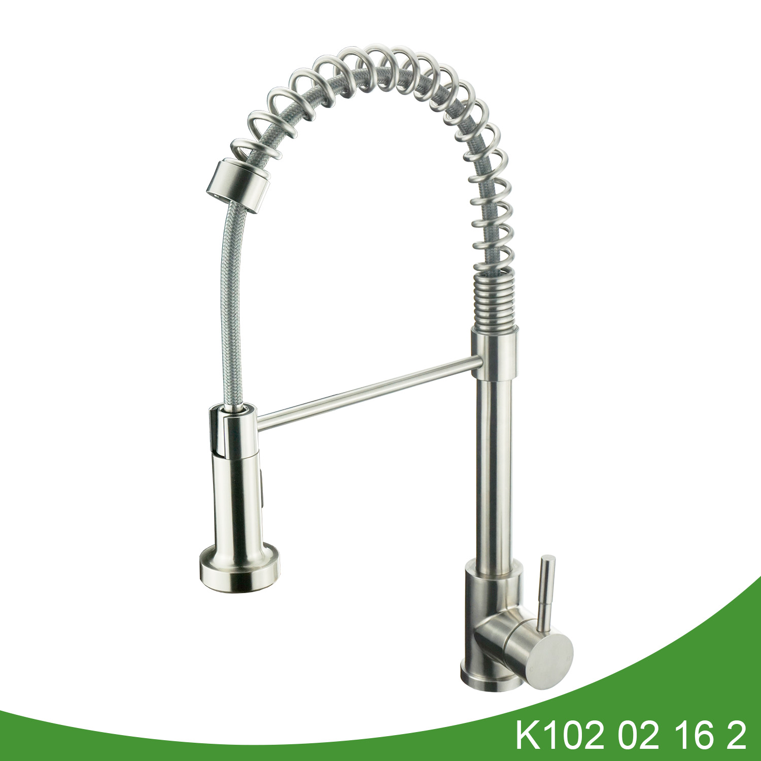 stainless steel pull down kitchen tap K102 02 16 2