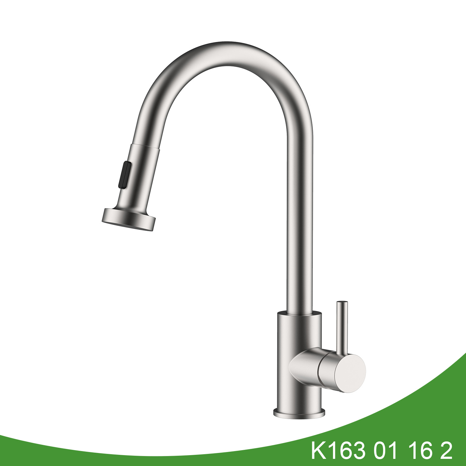 Stainless steel pull out kitchen tap K163 01 16 2