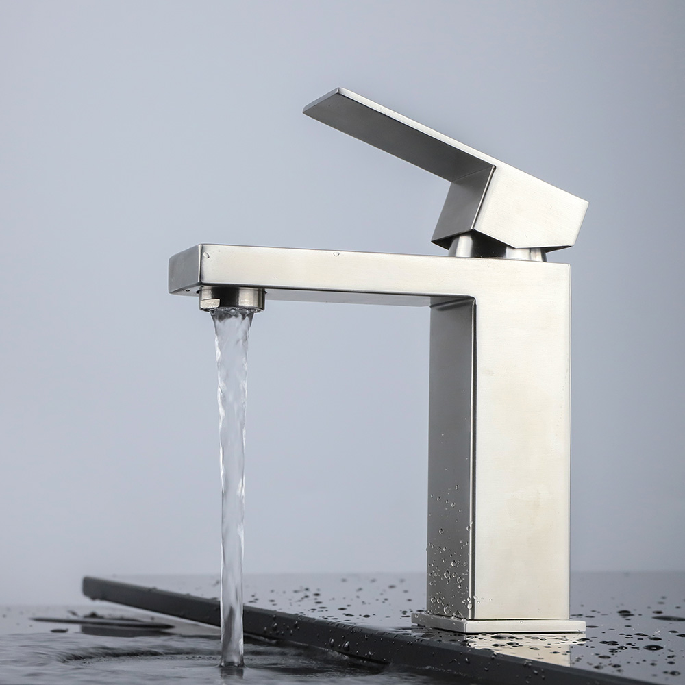 Stainless steel single handle basin faucet B231 01 16 2