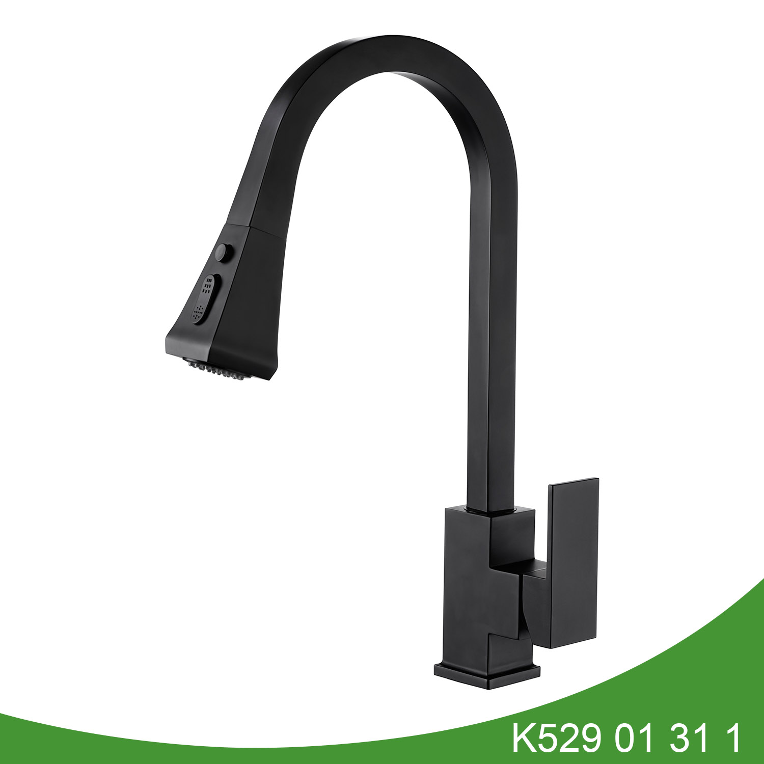 Matt black pull out kitchen faucet K529 01 31 1