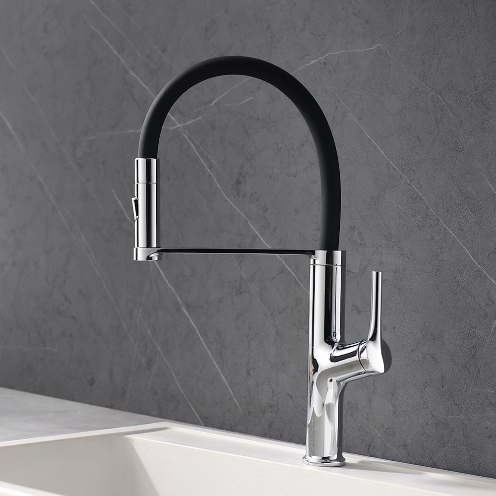 Silicone tube pull down kitchen faucet K542 02 01 1