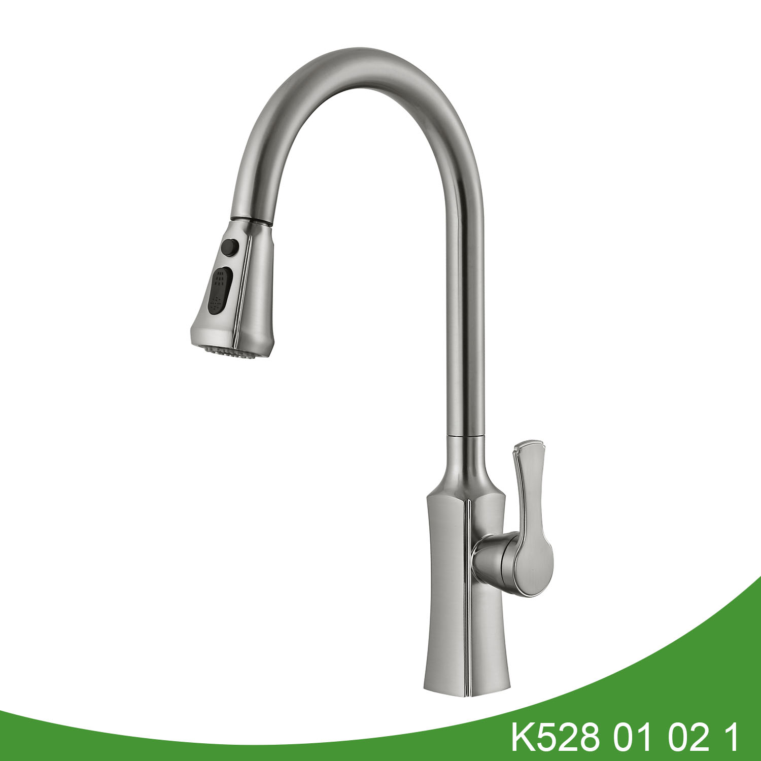 Brush nickel pull out kitchen faucet K528 01 02 1