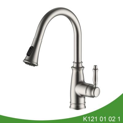 Single handle pull out kitchen faucet cUPC