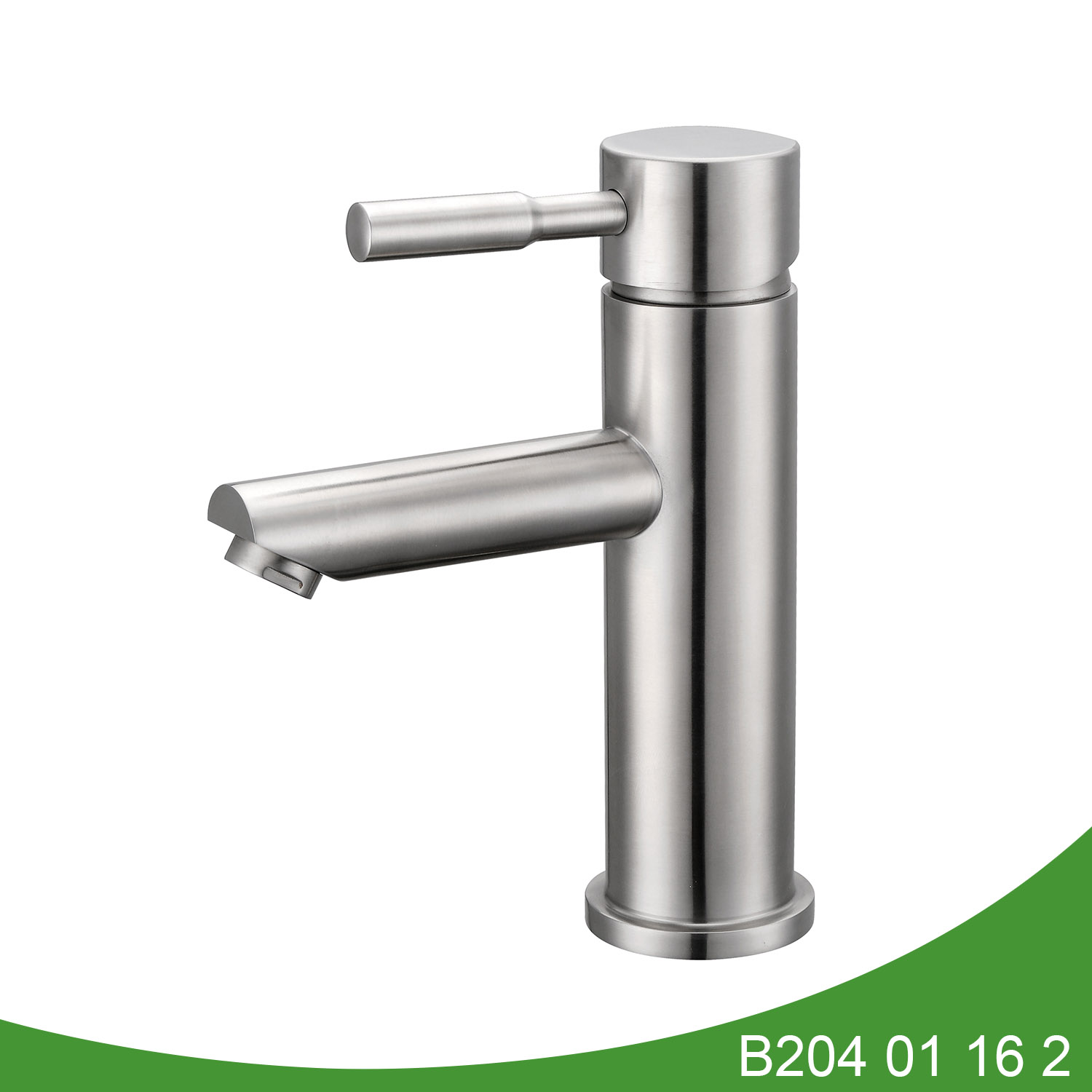 Single handle stainless steel basin faucet B204 01 16 2