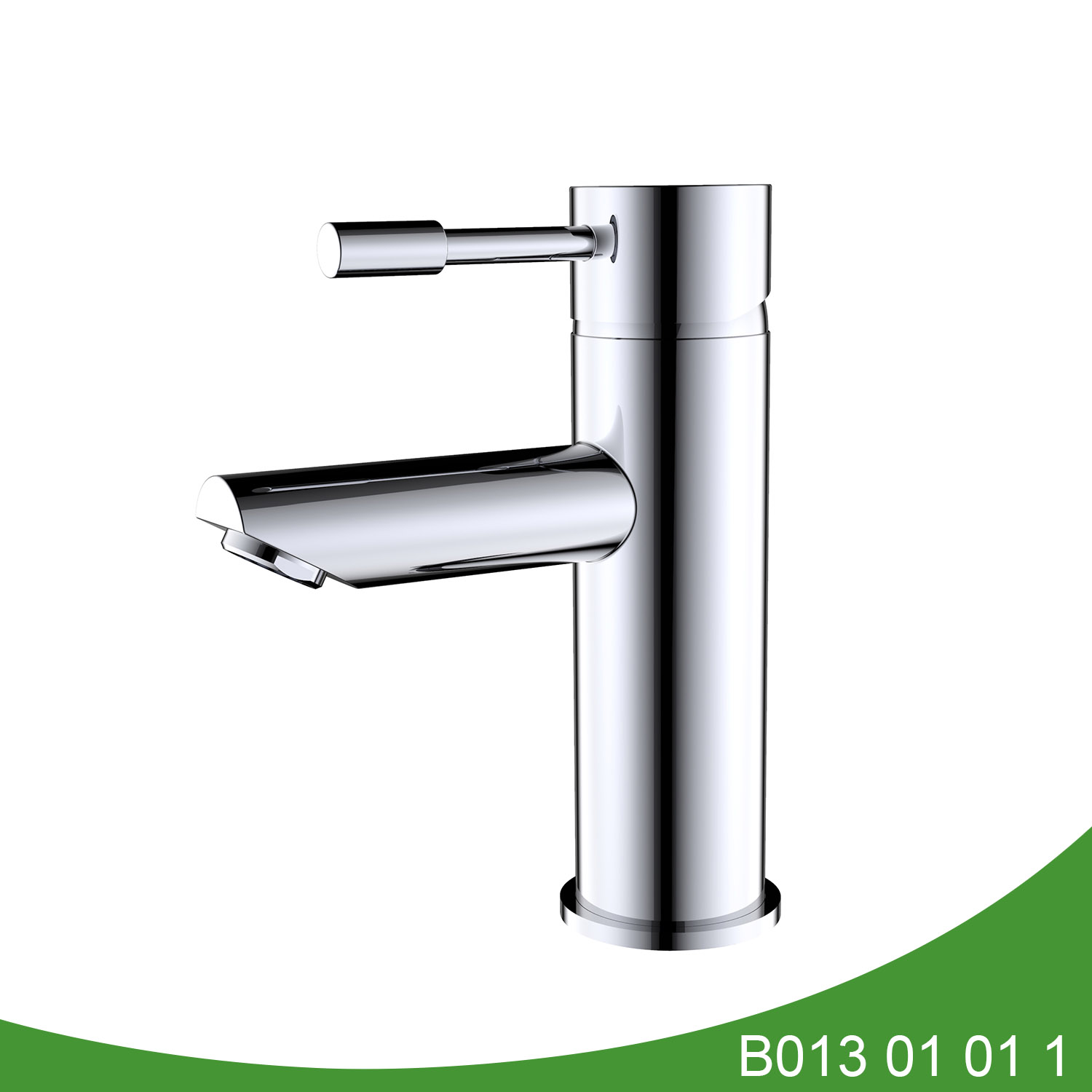 Single handle chrome basin faucet B013 01 01 1
