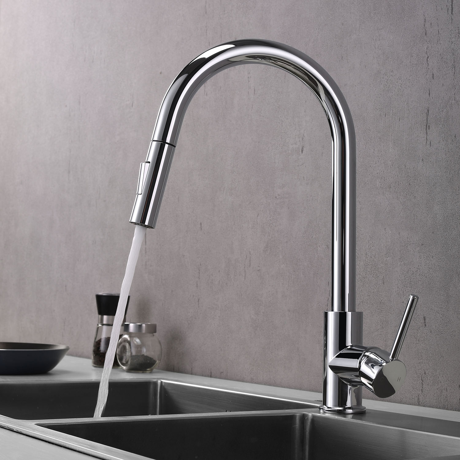 kitchen sink faucet with sprayer