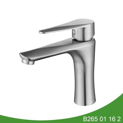 Single lever bathroom basin mixer tap