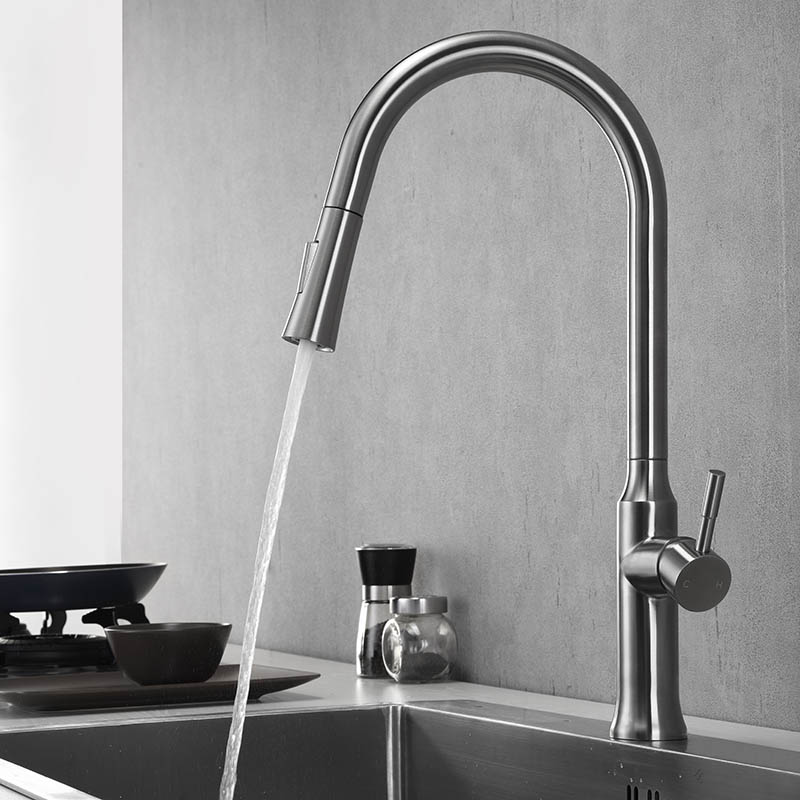 Single handle pull out sprayer kitchen faucet K134 01 16 2