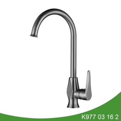 Stainless steel single kitchen faucet - K977 03 16 2