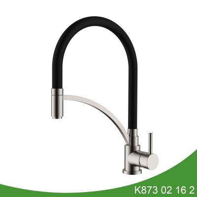 kitchen sink faucet with pull-down spray