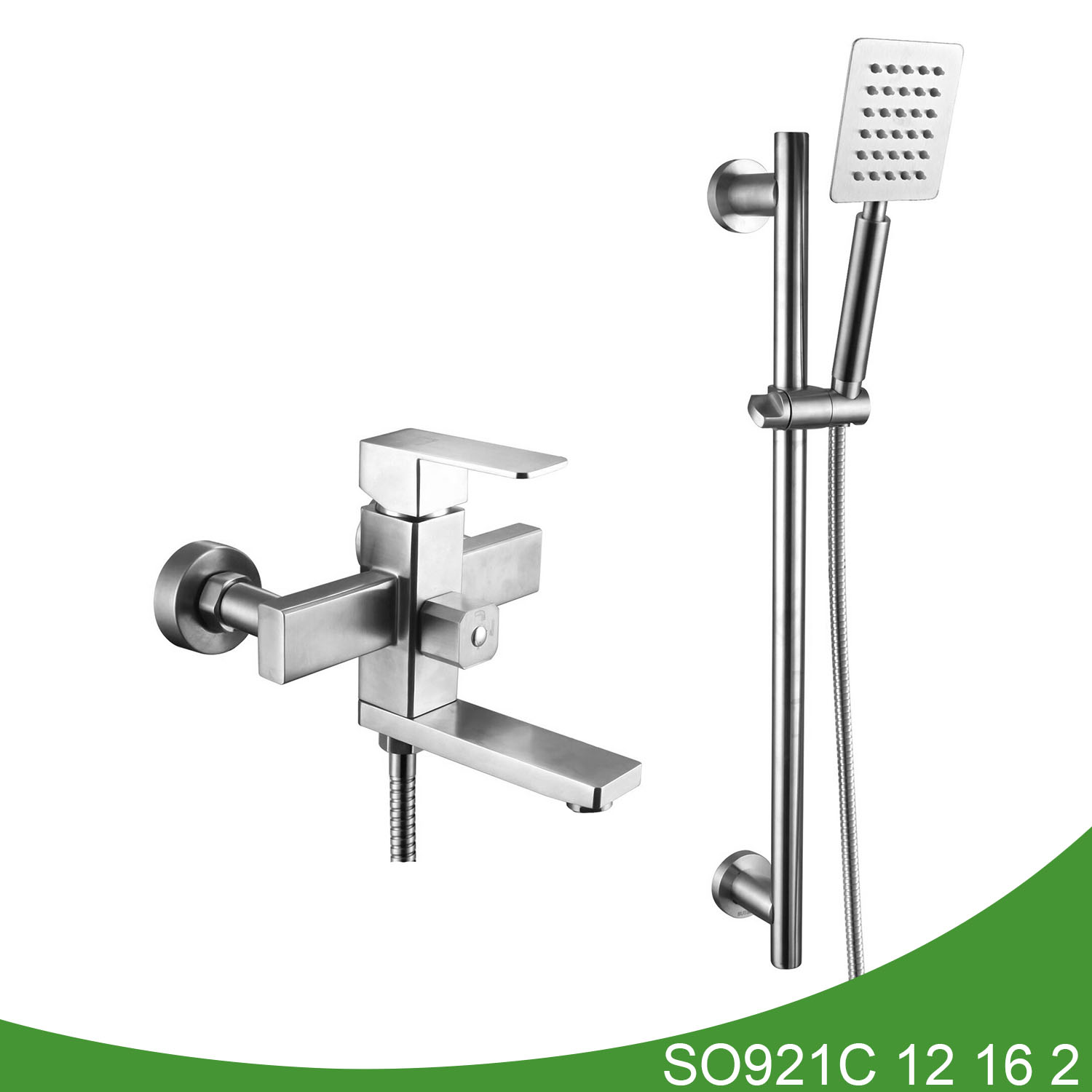 Stainless steel shower mixer SO921C 12 16 2